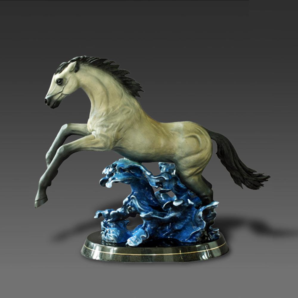 "Horse Bronze Sculpture ""Racing the Wind"" | Barry Stein | BBSRACINGINTHEWIND-2"