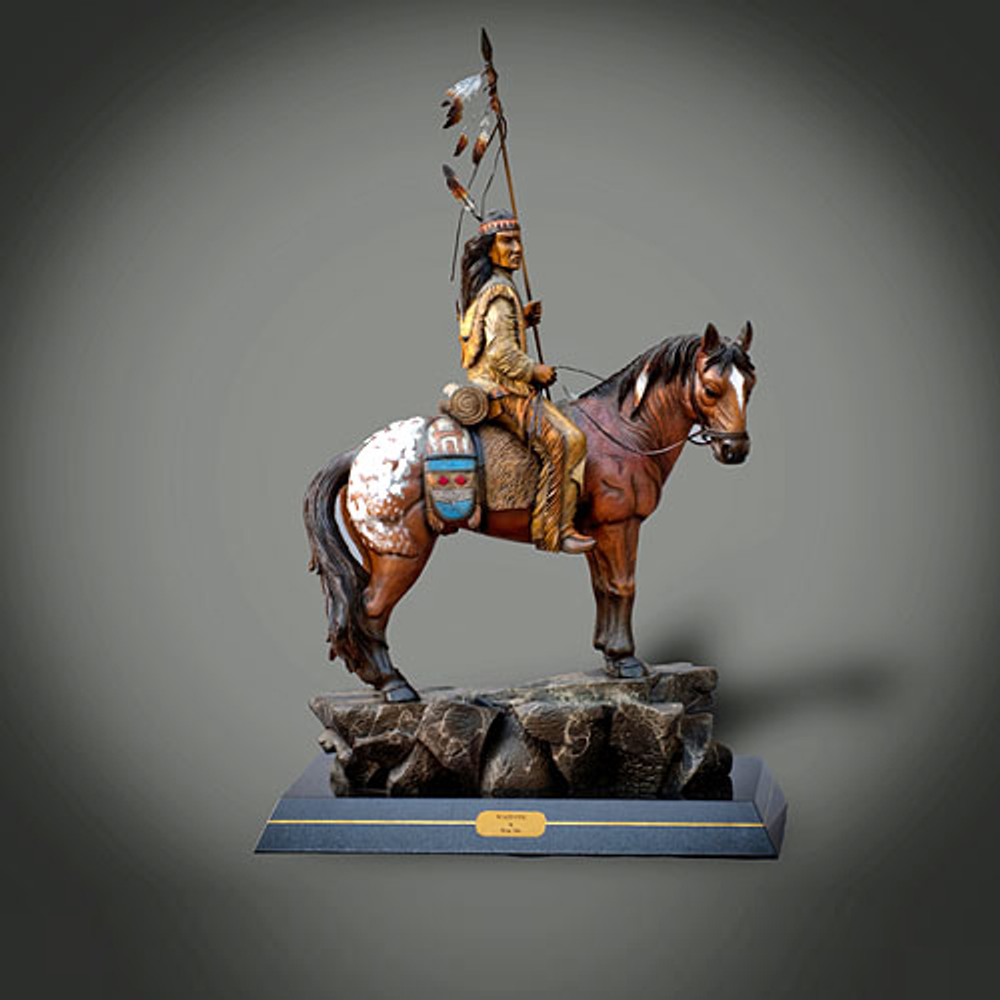 "Native American Bronze Sculpture ""Majestic"" | Barry Stein | BBSMAJESTIC-3"