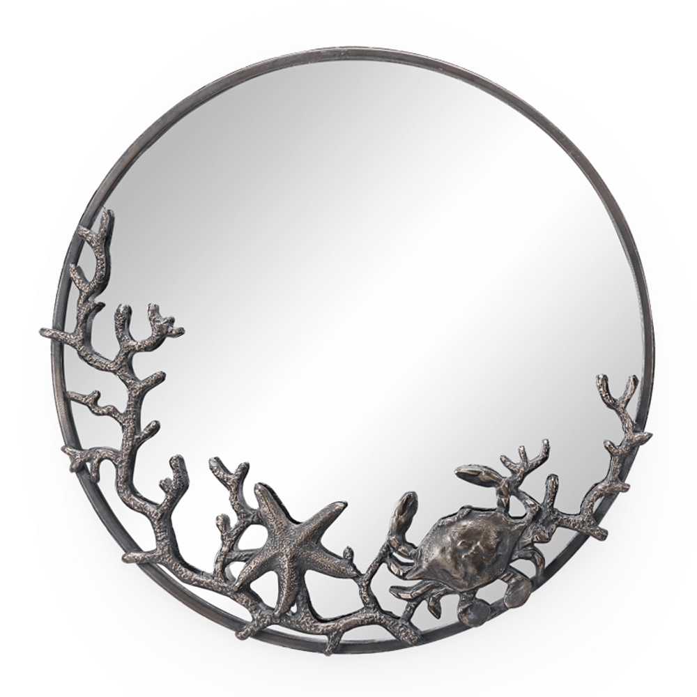 Starfish and Crab Wall Mirror | 51058 | SPI Home