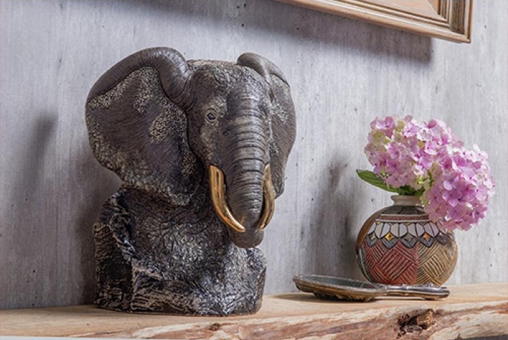 Black Elephant Ceramic Figurine | De Rosa | Rinconada | DER464B -3