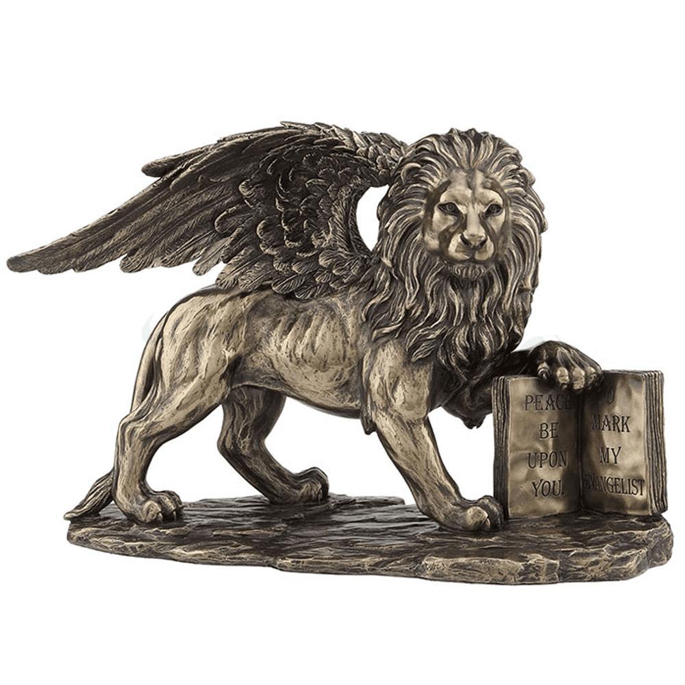 Winged Lion Sculpture   Unicorn Studio   WU77040A1