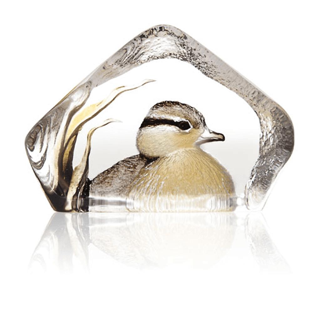 Duckling Painted Crystal Sculpture | 34268 | Mats Jonasson Maleras