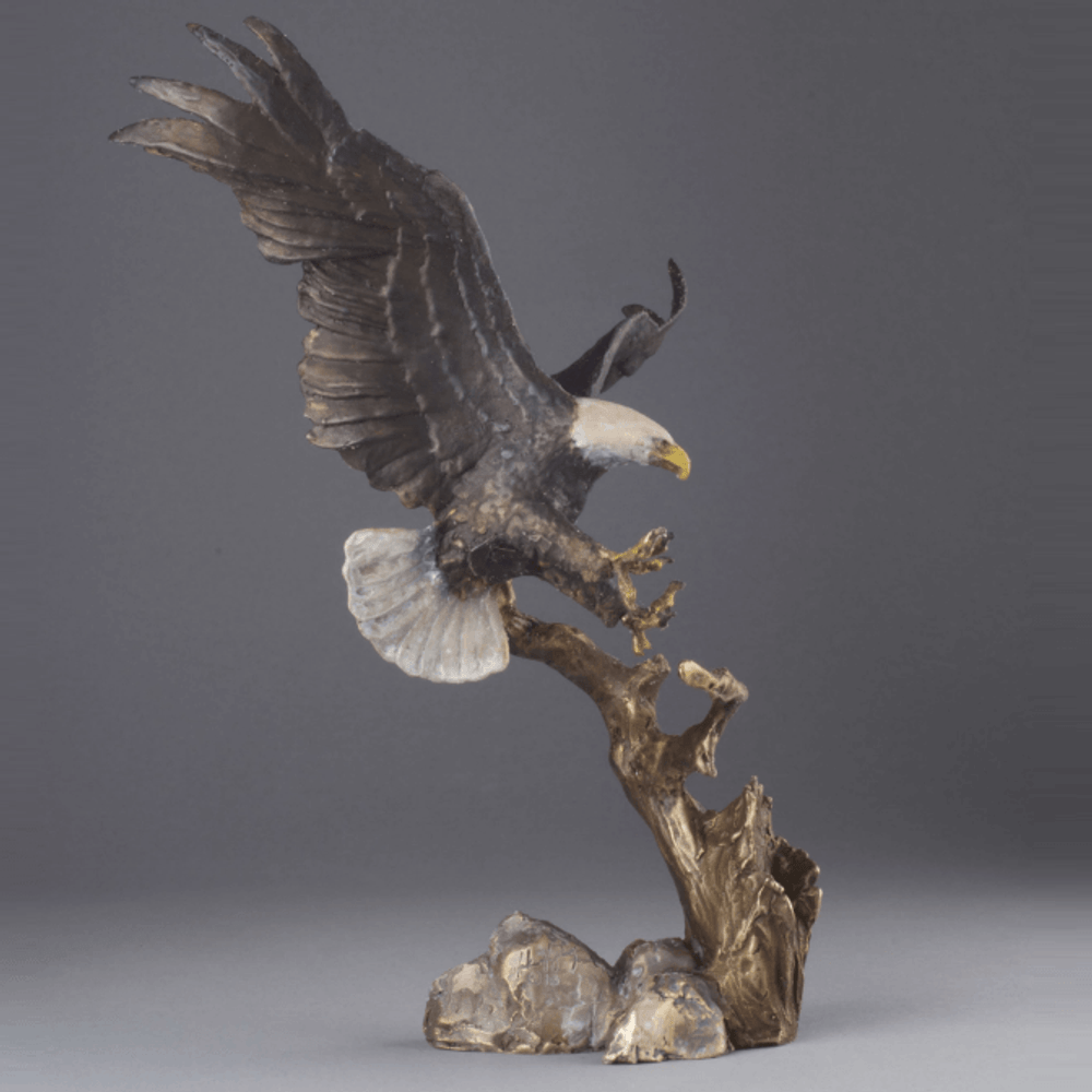 "Eagle Bronze Sculpture ""Spirit of Liberty""   MHS15042 -2"