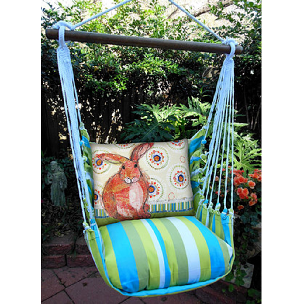 "Rabbit Hammock Chair Swing ""Beach Boulevard"" | Magnolia Casual | BBRRBKB-SP"