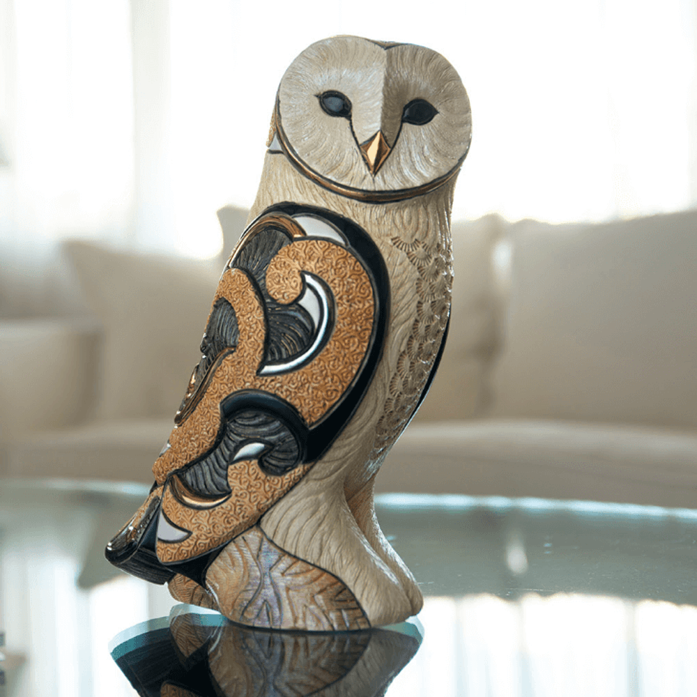 Barn Owl Ceramic Figurine   De Rosa   Rinconada   463