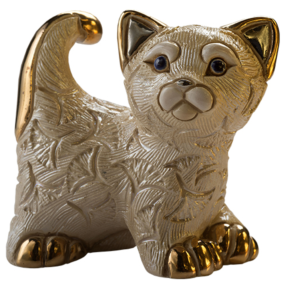 Abanico Cat Family Figurine Set of 2 | De Rosa
