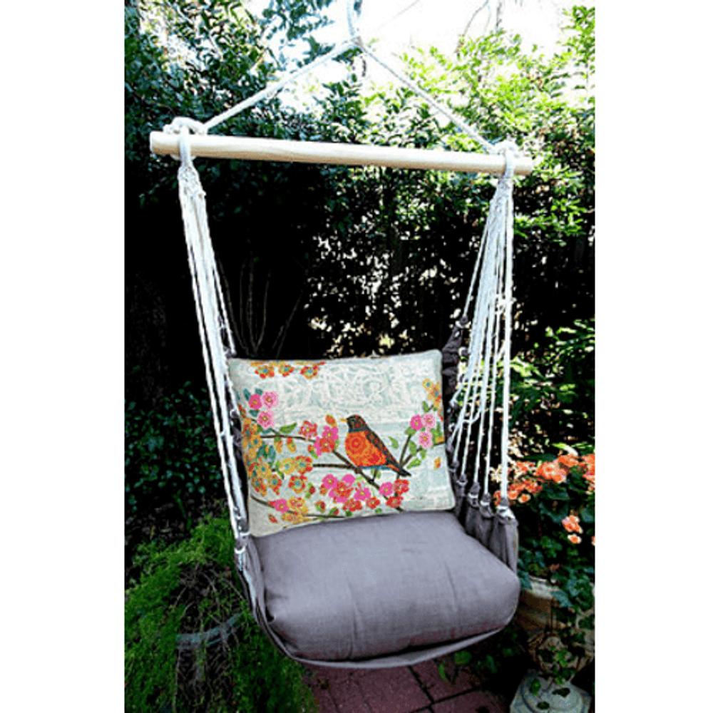 "Bird on Branch Hammock Chair Swing ""Chocolate"" | Magnolia Casual | CHTC603-SP"