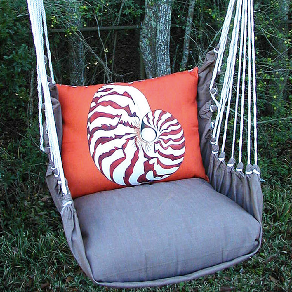 "Nautilus Shell Hammock Chair Swing ""Chocolate"" 