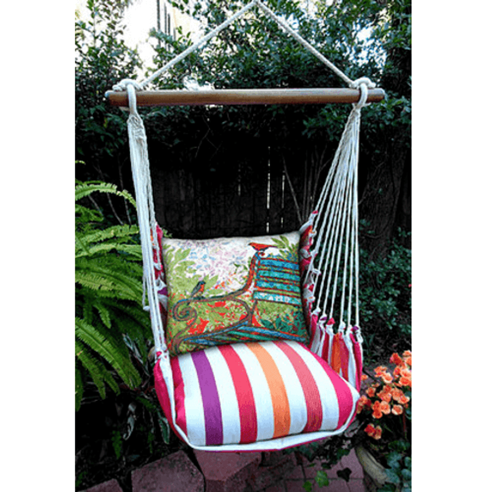 "Bird Hammock Chair Swing ""Cristina Stripe"" | Magnolia Casual | CRTCGB-SP"