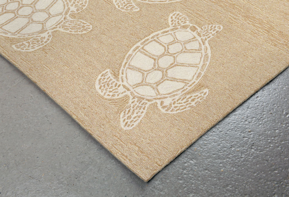 Turtle Pattern Neutral Area Rug | Trans Ocean | CAP46163412