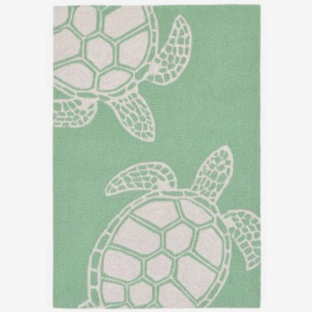 Turtle Pattern Mint Green Area Rug | Trans Ocean | CAP46163406