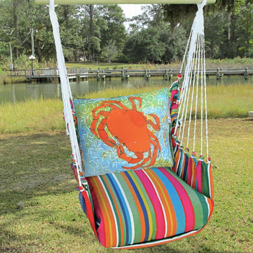"Crab Hammock Chair Swing Red ""Le Jardin"" | Magnolia Casual | LJRR616-SP"