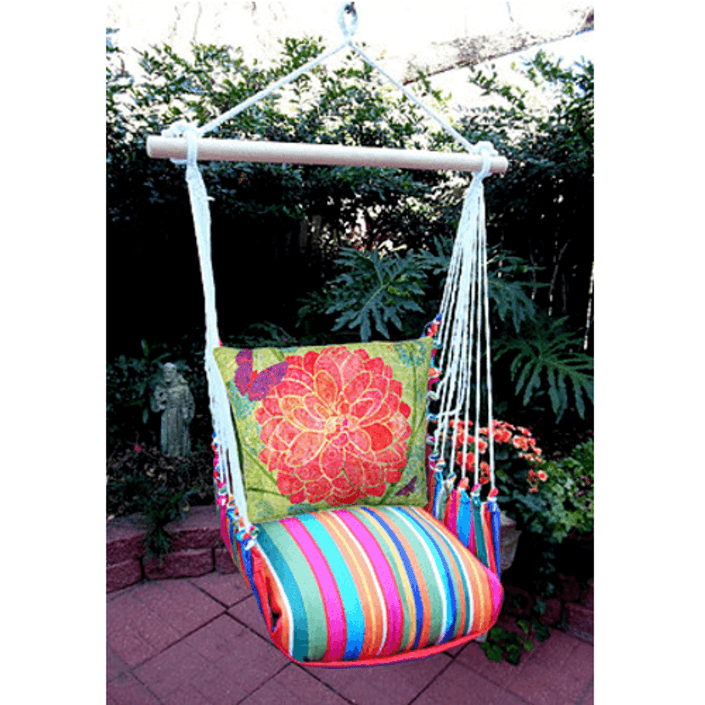 "Red Flower Hammock Chair Swing ""Le Jardin"" | Magnolia Casual | LJTC512-SP"