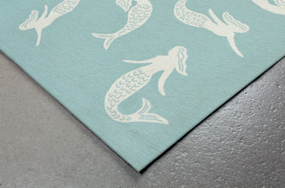 Mermaid Aqua Area Rug | Trans Ocean | CAP46167404