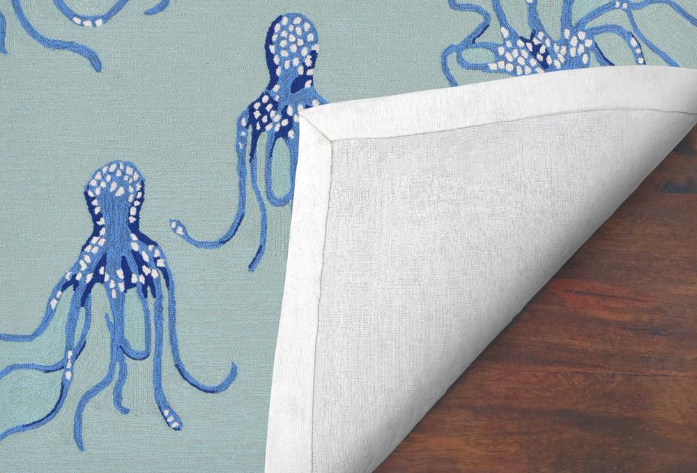 Octopus Aqua Area Rug | Trans Ocean | CAP46167704