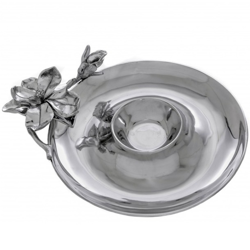 Magnolia Chip and Dip Tray | Arthur Court Designs | 104004