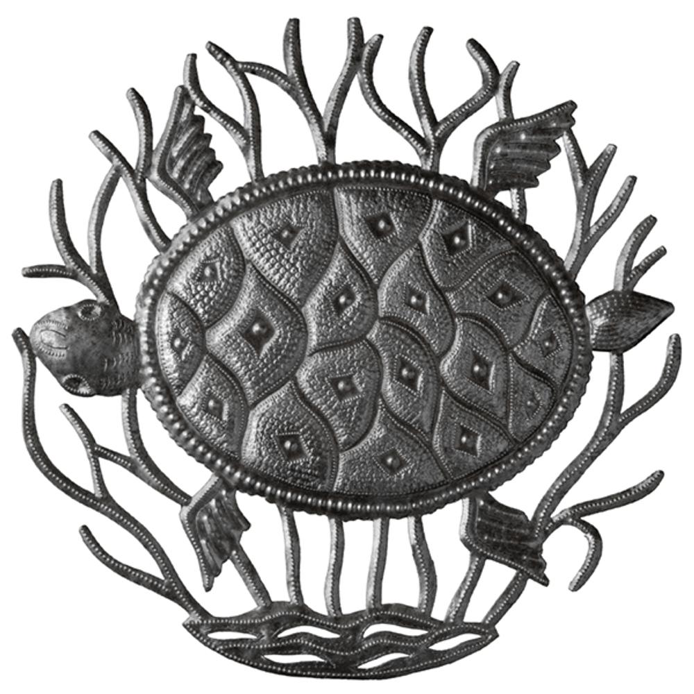 Turtle Recycled Steel Drum Wall Art | Le Primitif