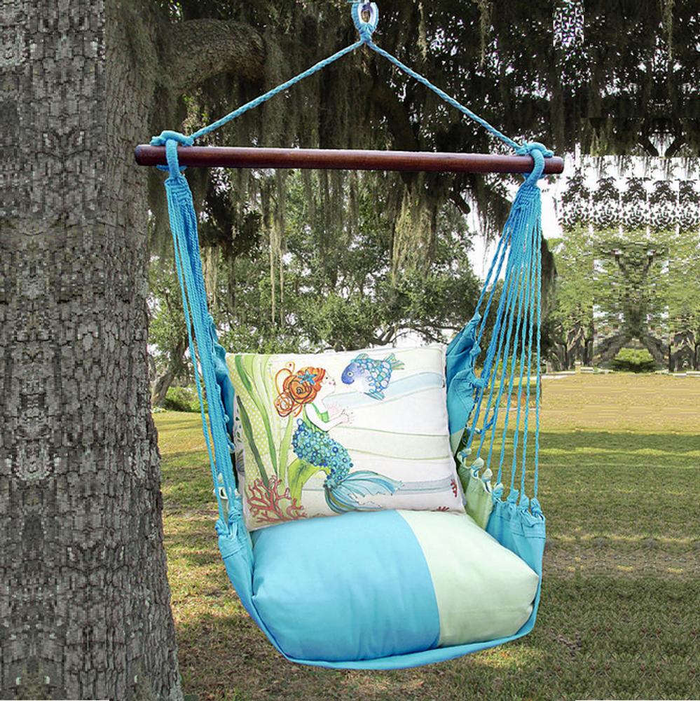"Mermaid Hammock Chair Swing ""Meadow Mist"" | Magnolia Casual | MMRR702-SP"