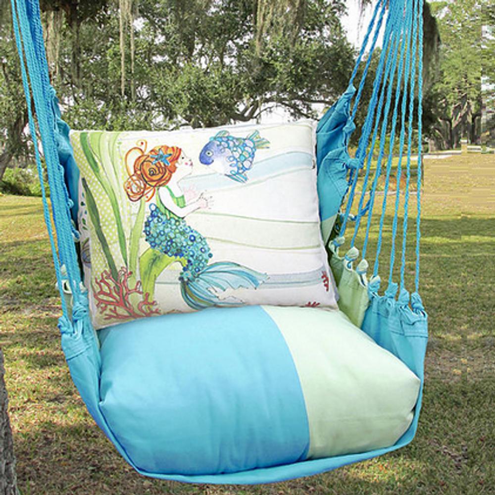 "Mermaid Hammock Chair Swing ""Meadow Mist"" | Magnolia Casual | MMRR702-SP-2"