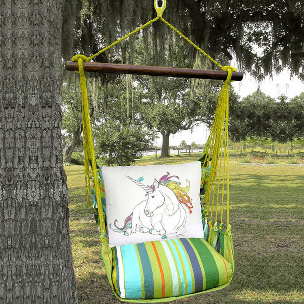 Unicorn Hammock Chair Swing Citrus Stripe Magnolia Casual