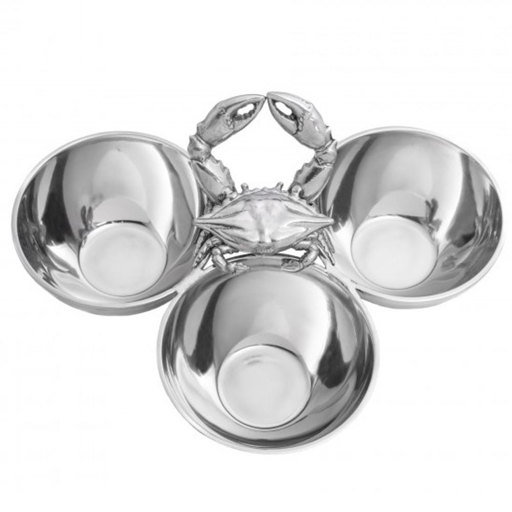 Crab 3-Bowl Server | Arthur Court Designs | 104082
