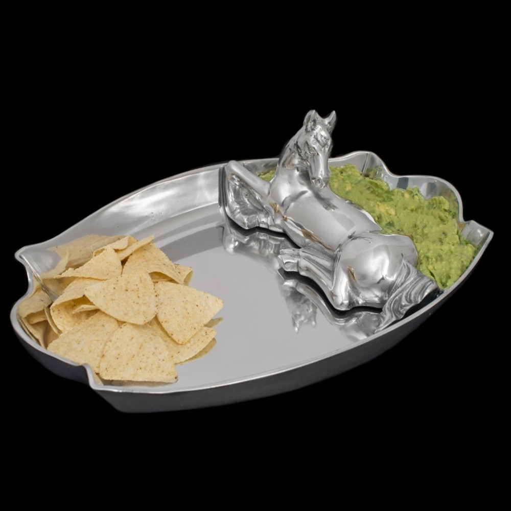 Horse Chip and Dip Tray | Arthur Court Designs | 104096