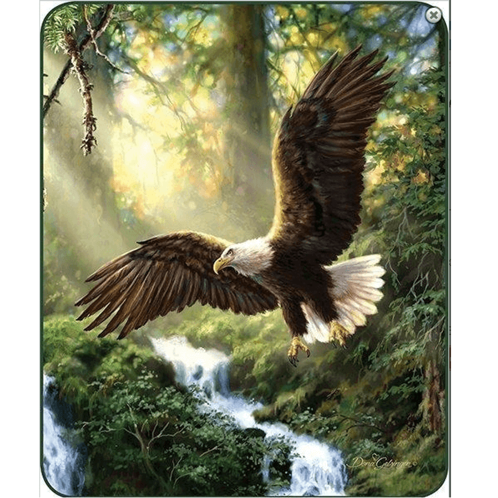 Eagle Faux-Mink Blanket | Eagles Flight | DB5431-2