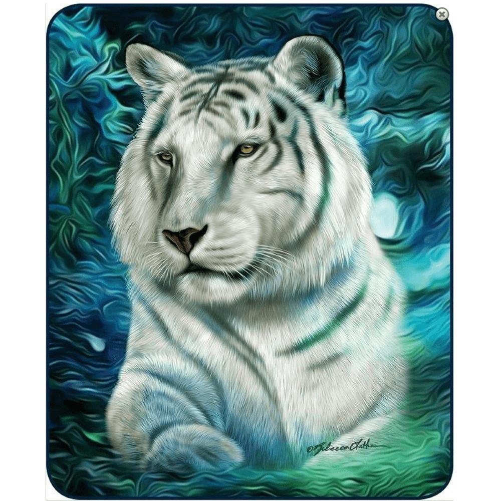 White Tiger Faux-Mink Blanket | DB5327-2