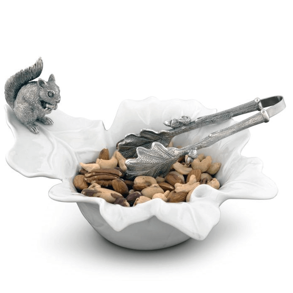 Leaf Bowl with Pewter Squirrel | Vagabond House | VHCS309S -2