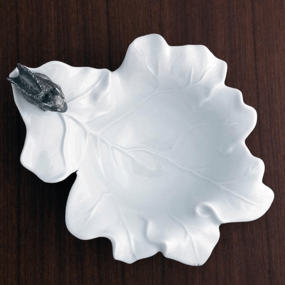 Leaf Bowl with Pewter Squirrel | Vagabond House | VHCS309S -3