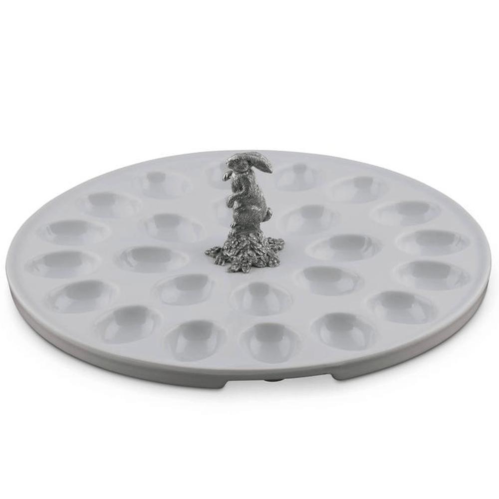Rabbit Standing Deviled Egg Tray | Vagabond House | VHCG302SR -4