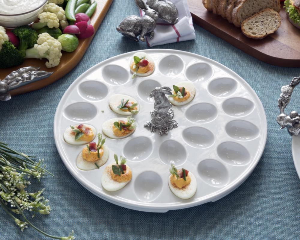 Rabbit Standing Deviled Egg Tray | Vagabond House | VHCG302SR