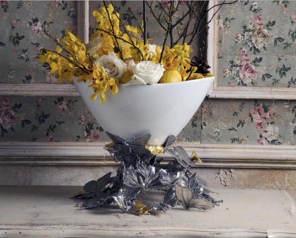Butterfly Centerpiece Bowl | Vagabond House | VHCG375BF