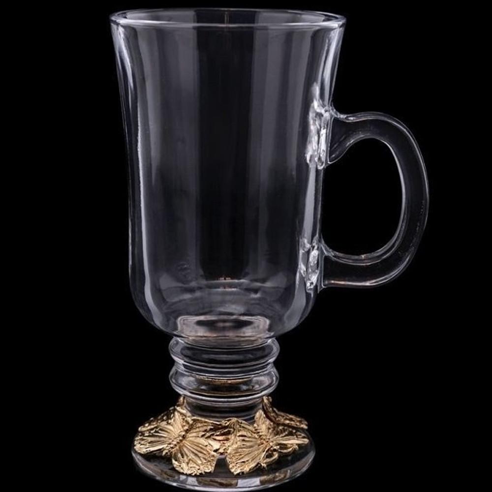 Butterfly Glass Mug, 24K Gold Plated | Arthur Court Designs | 121058-DISC