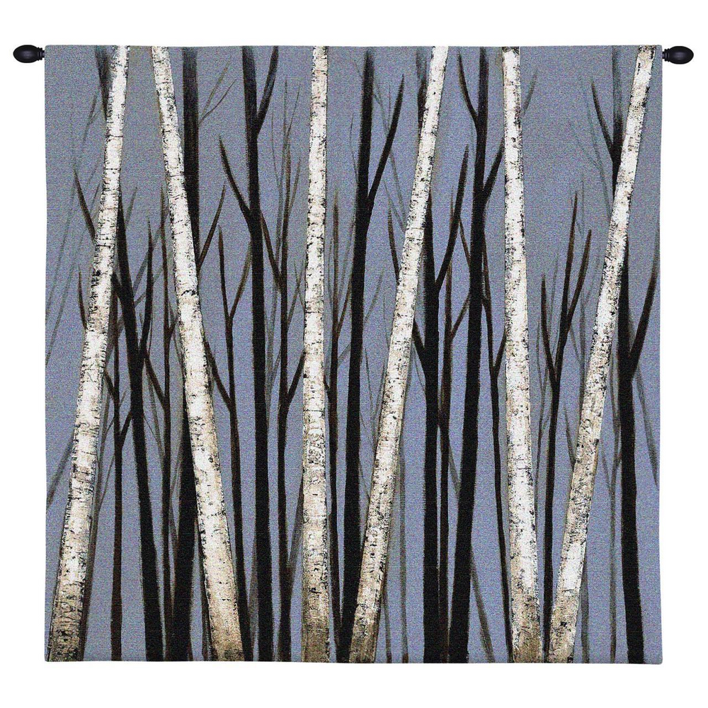 """Birch Tree Tapestry Wall Hanging """"Birch Tree Shadows"""" 
