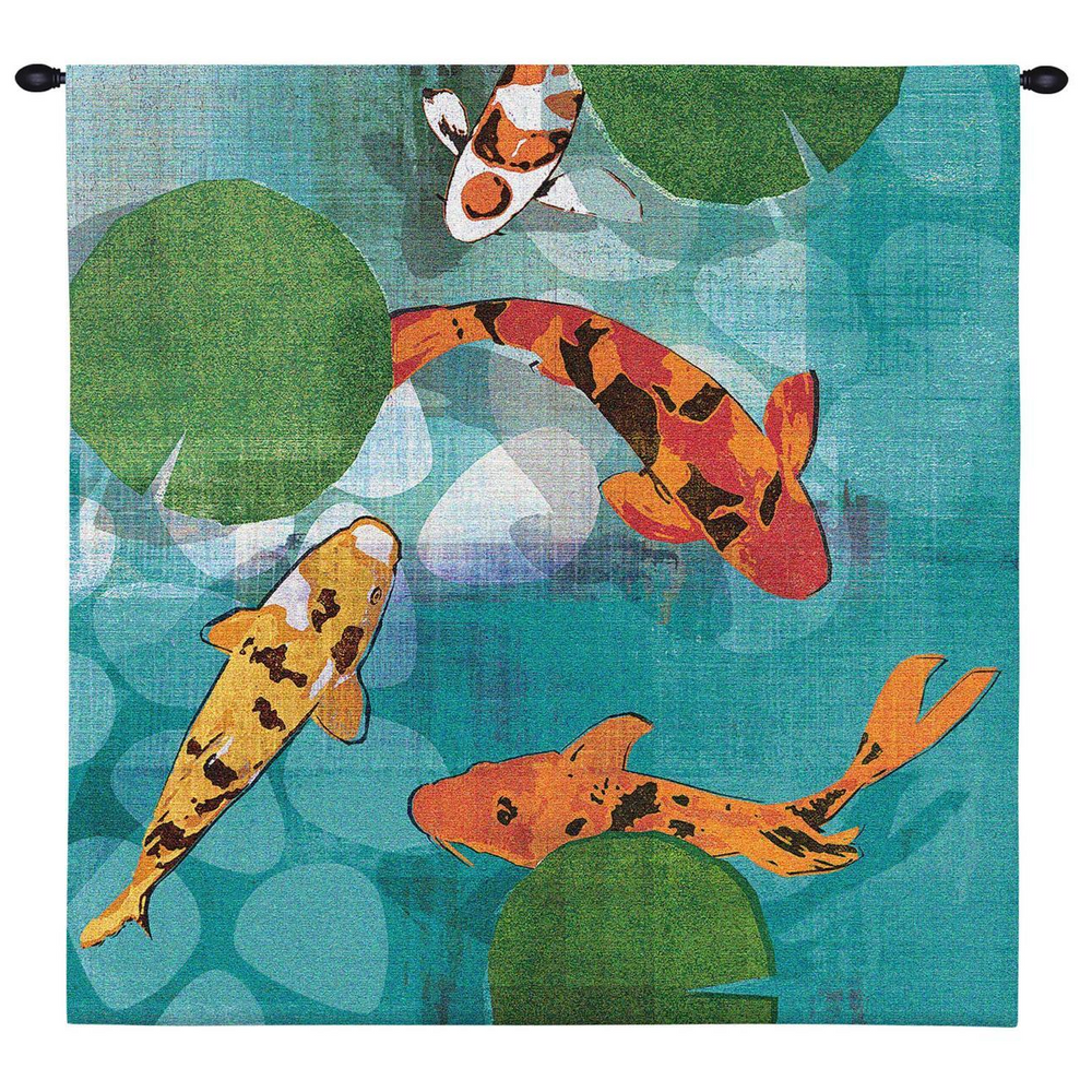 """Koi Tapestry Wall Hanging """"Lucky Koi"""" 