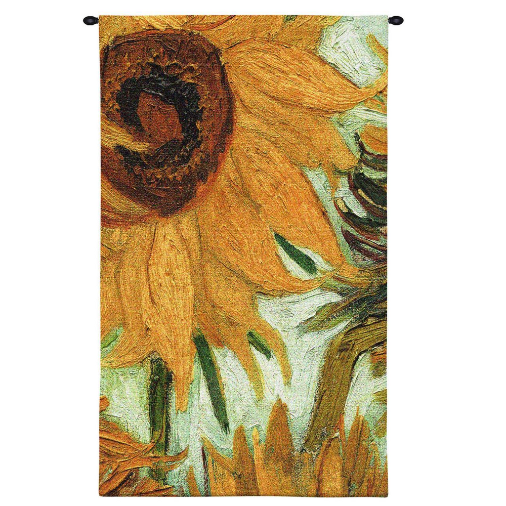 """Sunflower Tapestry Wall Hanging """"Flowers of the Sun"""" 