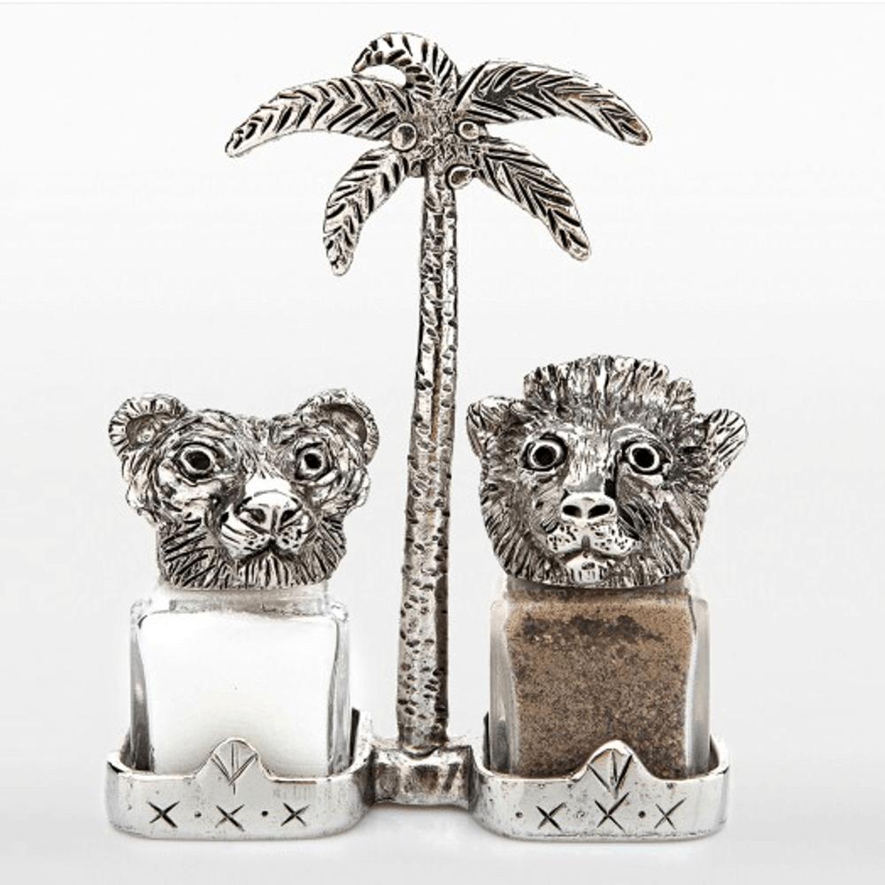 Tiger Lion Salt and Pepper Shakers | Silvie Goldmark