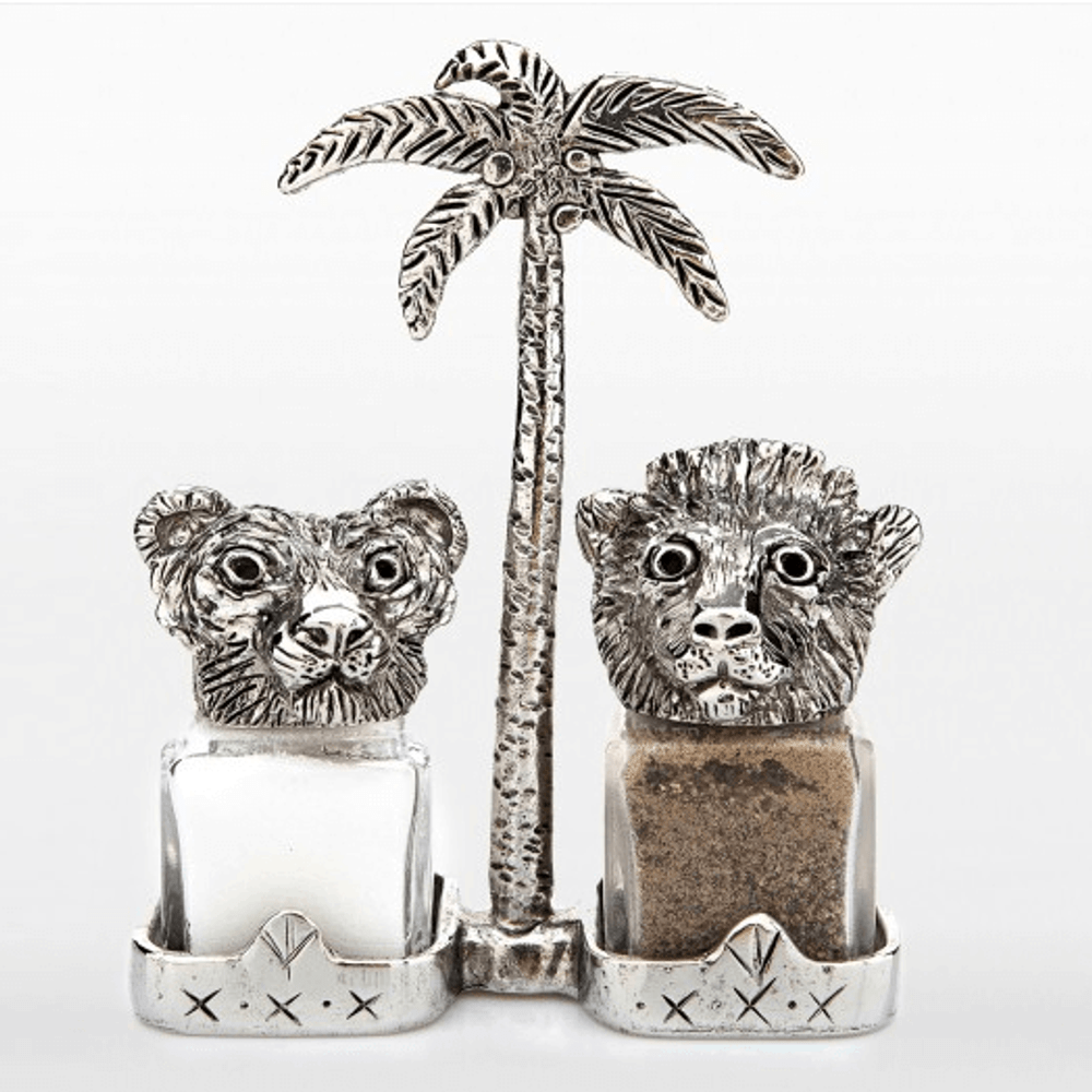 Tiger Lion Salt and Pepper Shakers   Silvie Goldmark
