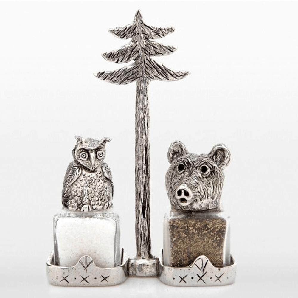 Woodsy Owl and Smokey Bear Salt and Pepper Shakers | Silvie Goldmark | SGM29