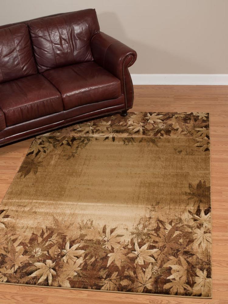 Autumn Trace Leaves Area Rug Toffee | United Weavers | 511-29859
