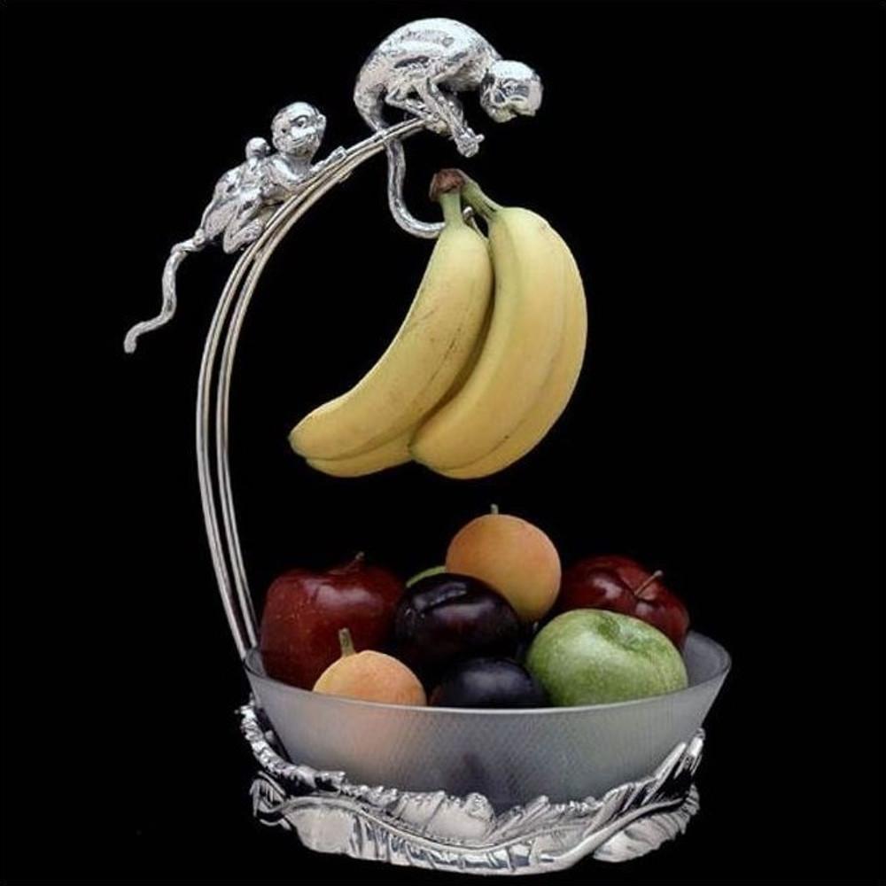 Safari Monkey Banana Holder with Bowl | Arthur Court Designs | 550016