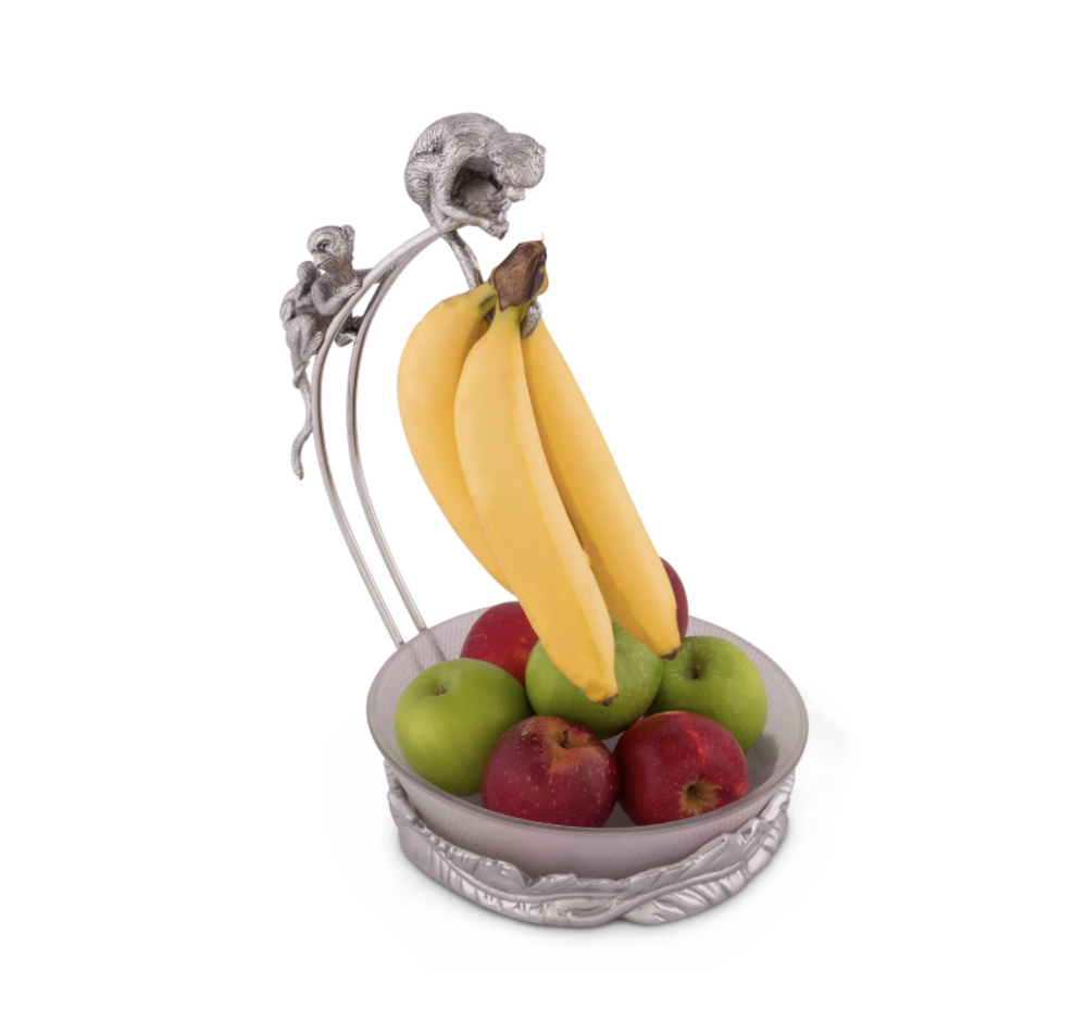 Safari Monkey Banana Holder with Bowl | Arthur Court Designs | 550016