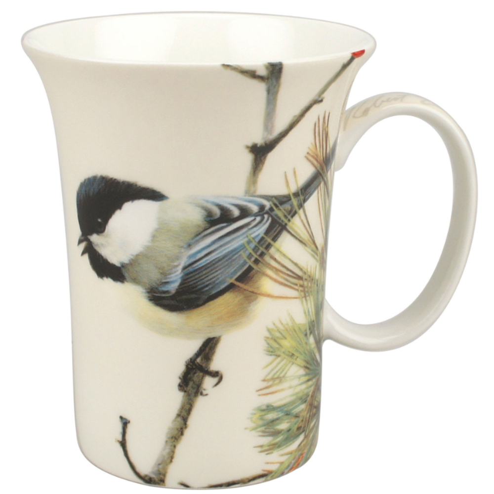 Chickadee Bone China Mug   McIntosh Trading Chickadee Mug   Robert Bateman Lively Pair Mug