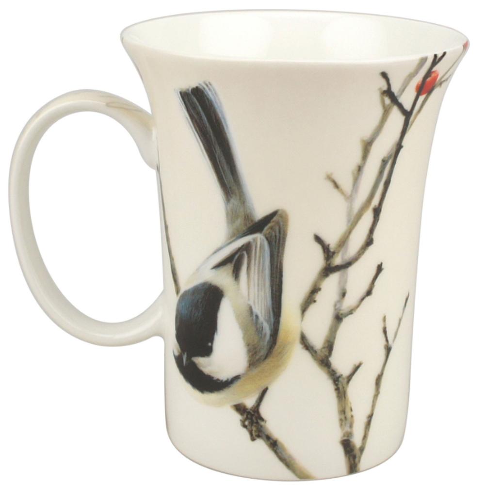 Chickadee Bone China Mug | McIntosh Trading Chickadee Mug | Robert Bateman Lively Pair Mug -2