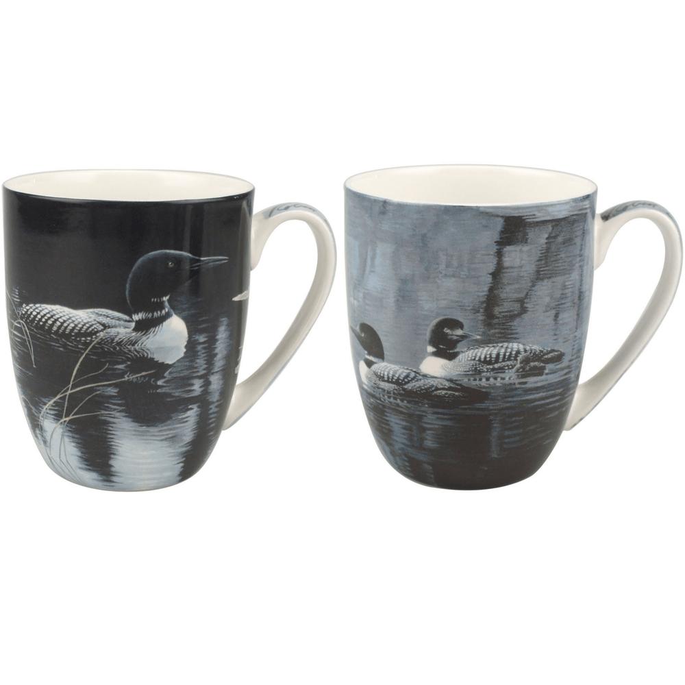 Loon Bone China Mug Set of 2 | McIntosh Trading Loon Mug | Robert Bateman Loon Mug Set -2