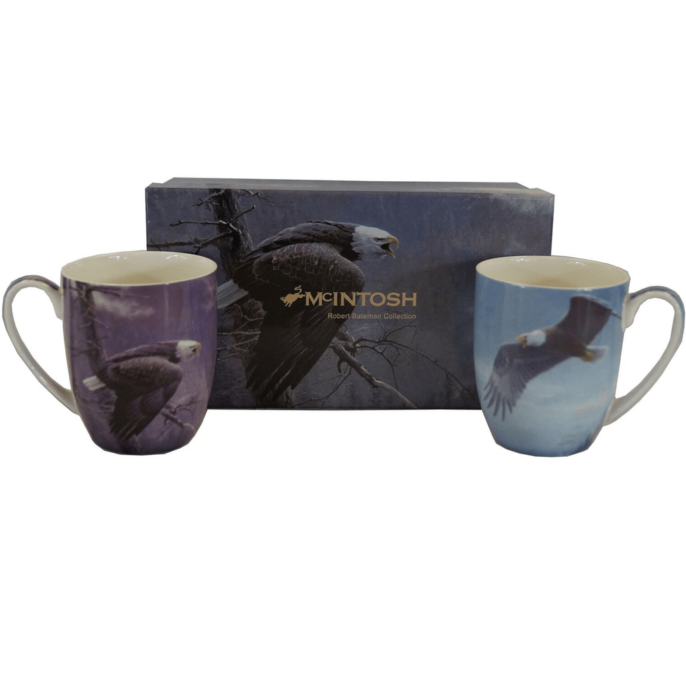 Eagle Bone China Mug Set of 2 | McIntosh Trading Eagle Mug | Robert Bateman Eagle Mug Set