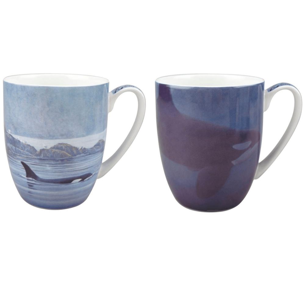 Whale Bone China Mug Set of 2 | McIntosh Trading Whale Mug | Robert Bateman Whale Mug Set -2
