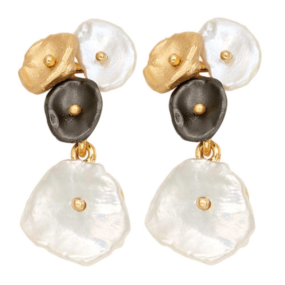 River Pebble Post Earrings | Michael Michaud Jewelry | SS3311BZMULWP