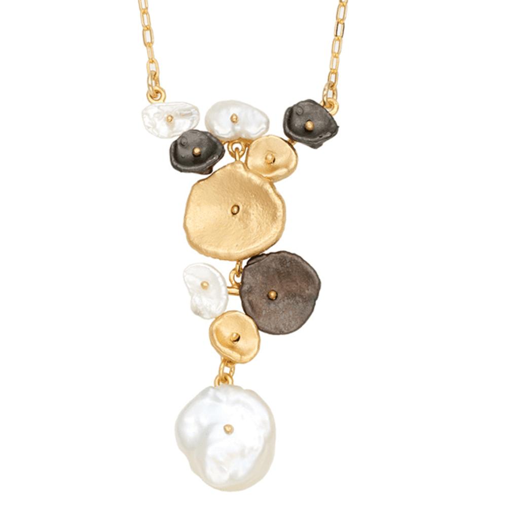 River Pebble Pendant Necklace | Michael Michaud Jewelry | SS9216BZMULWP